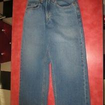 Boys 569 Levis Loose Straight Blue Jeans Size 8 Regular 24' X 22