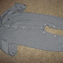 Boys 6-12m Baby Gap Teddy Bear Cotton Long Sleeve Unionsuit Sleeper Pants Outfit Photo