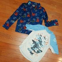 Boys 8 Tops 2 Piece Lot Gap Kids Swim Shirt Sharks Lego Ninjago Pajama Pj Top Photo
