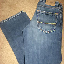 Boys Abercrombie & Fitch Horton Classic Straight Leg Buttonfly Jeans 10 Photo
