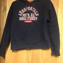 Boys Aeropostale Hoodie Sweatshirt Medium Navy & Red Photo