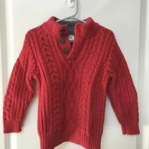 Boys Baby Gap 3 3t Red Thick Sweater  Photo