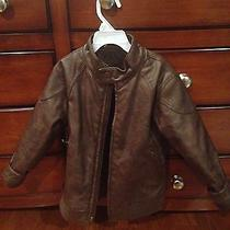 Boys Baby Gap Brown Faux Leather Jacket Photo