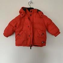 Boys Baby Gap Orange Hoodie Puffer Jacket Coat Green Black 18-24 Photo