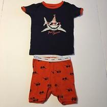 Boys Babygap Size 3t Pajamas Party Animal Shark Shorts Snug 2 Piece Set Toddler Photo