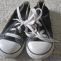 Boys Black Converse Low Tops Size 9 Used Photo