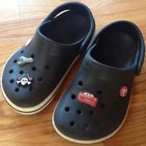 Boys Black Crocs Size 1 Photo