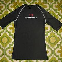 Boys Black Fitted Heat Gear Football Shirt by Under Armour Size Youth Medium Ymd Photo
