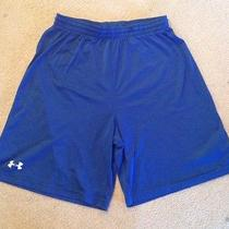 Boys Blue Under Armour Under Armoir Loose Bottom Shorts Size Large Photo