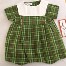 Boys Boutique 9 Months Christmas Romper Plaid Outfit New Nwt 40 Jack & Teddy Photo