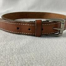 Boys Carhartt Brown Leather Belt 1 1/8