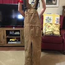 Boys Carhartt Coveralls Size 10 Quilted Lining Photo