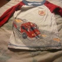 Boys Carter's Red /white /blue  Long Sleeve Fire Chief Shirt 24 Months  Photo