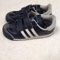 Boys Childrens Adidas Shoes 10 Navy Blue Photo