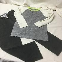 Boys Crew Cut Henley Top and Old Navy Gray Knit Pants Size 6/7 Photo