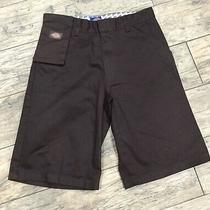 Boys  Dickies Shorts Size 16 Brown Gently Worn Photo