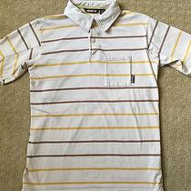Boys Element Striped Polo Shirt Cute Quirky Guc M Photo
