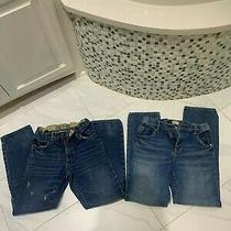 Boys Gap Denim Jeans Slim Straight Sz 14 Lot of 2 Photo