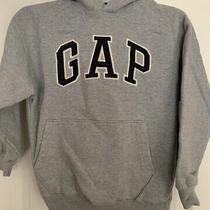 (Boys)gap Gray Logo Pullover Hoodie Sweatshirt Size M Photo