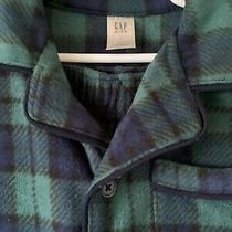Boys Gap Green/navy Plaid Fleece Pajamas Size 4t Photo