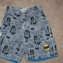 Boys Gap Junk Food Batman Future Crime Fighter Bathing Suit Swim Trunks 6-7 Euc Photo