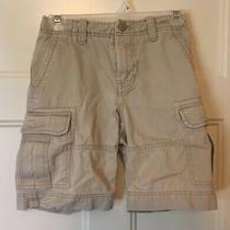 Boys Gap Kids Uniform Approved Cargo Shorts Khaki Tan Sz 8 R Photo