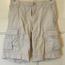 Boys Gap Kids Uniform Approved Cargo Shorts Light Khaki Stone Tan Sz 8 R Photo