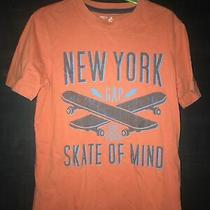 Boys Gap Medium Orange T Shirt New York Skating Graphic Tee Photo