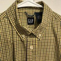 Boys Gap Shirt Yellow and Blue Check Size L-10 Excellent Condition... Photo