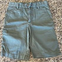 Boys Gap Shorts Size 7 Euc Adjustable Waist Pockets Green Photo