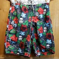 Boys Gap Star Wars Hibiscus Board Shorts Swimsuit Size Xxl Youth 14/16 R2d2 Photo