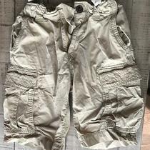 Boys Gapkids Gap Size 8 Reg Khaki Cargo Shorts Euc Adjustable Waist Photo