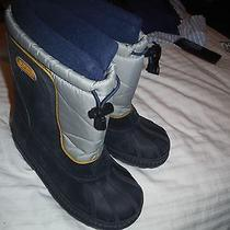 Boys Girls Kids Sorel Snow Command Black Winter Snow Boots Sz 4  Photo