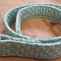Boys Girls Size S Vineyard Vines Green Blue Whale D Ring Canvas Belt 27