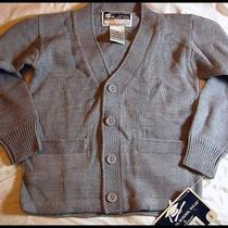 Boys Heather Grey Cardigan Catholic Private School Sweater Nwt 5 French Toast  Photo