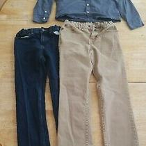 Boys Jeans Shirt Lot Size 10-12 Lands End Old Navy Cat and Jack Photo