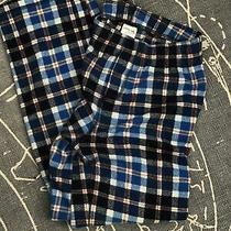 Boys Lands End Blue Plaid Flannel Pajama Lounge Pants Size 14 Xl Photo