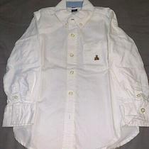 Boys Long Sleeve Button Down Baby Gap Shirt White Size 4 Photo