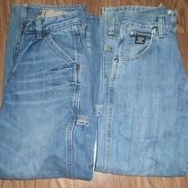 Boys Lot of 2 Gap Wrangler 20x  Sz 10 Slim Cotton Carpenter  Blue Jeans  24x24 Photo