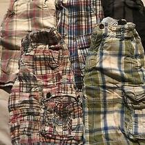 Boys Lot of 5 Gap Kids Name Brand Summer Plaid Khaki Shorts Size 8 Photo