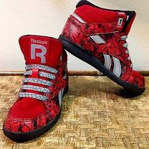 Boys Marvel Spider-Man Reebok Shoes Red Black Laces - Size 11 Toddler Free s&h Photo