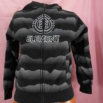 Boys Medium Element Current Skater Full Zip Hooded Sweatshirt Guc Photo
