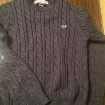 Boys Navy Vineyard Vines Cable Knit Sweater Photo