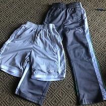 Boys Nike Puma Shorts Pants 4 Grey Green Photo