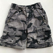 Boys Old Navy Camo Cargo Shorts Sz 5 Regular 5t Adjustable Waist Black Gray Photo