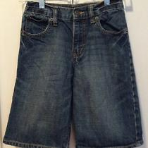 Boys Old Navy Denim Adjustable Waist Shorts Size 8 Euc Photo