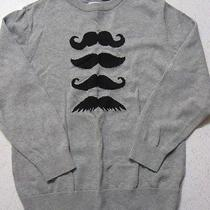 Boys Old Navy Mustache Sweater Size M 8 Photo