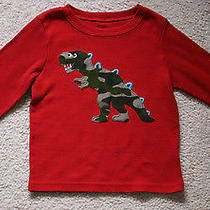 Boys Pajama Red Thermal Shirt Camouflage Dinosaur Carters Size 5 6 Vguc Photo