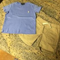 Boys Ralph Lauren Polo Top & Old Navy Tan Shorts  Size 3t  Photo