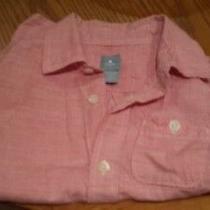 Boys Red Checked Baby Gap Shirt 3 Years Photo